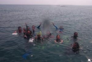 Para pengambil data bawah air
