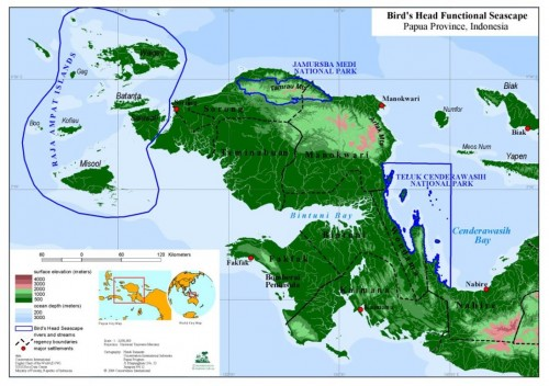 Peta Raja Ampat (Sumber: Disbudpar Raja Ampat, 2014)